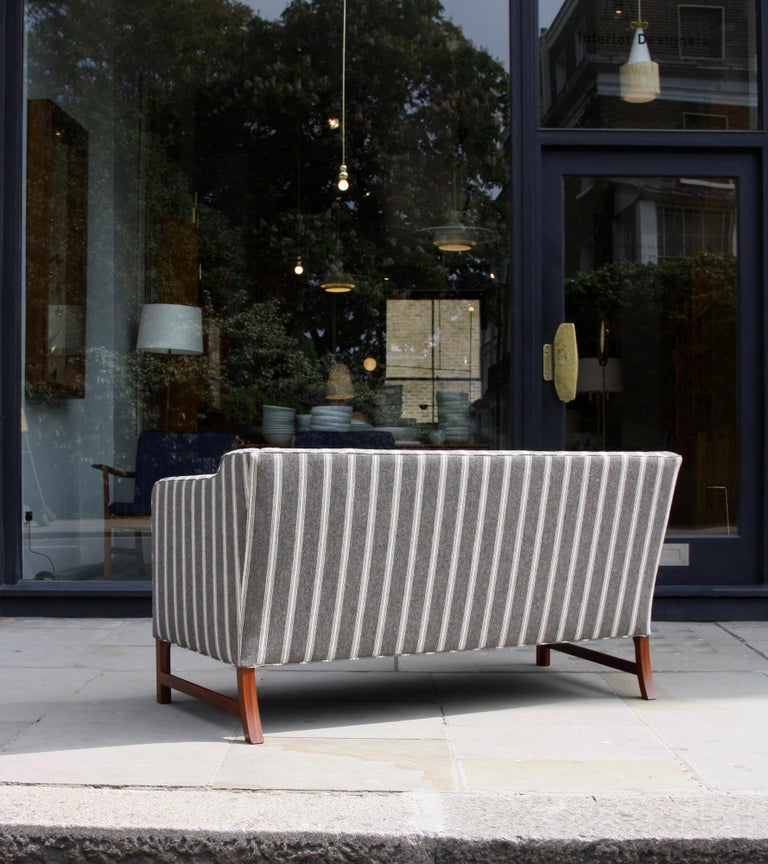 Ole Wanscher Three-Seat Settee Made by A.J. Iversen For Sale 7
