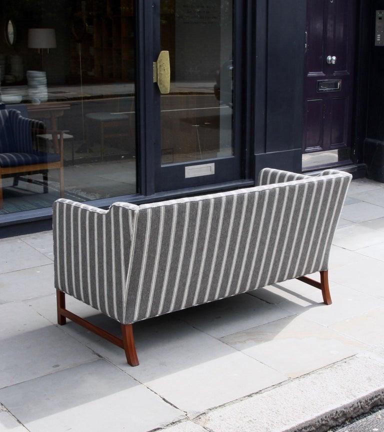 Scandinavian Modern Ole Wanscher Three-Seat Settee Made by A.J. Iversen For Sale