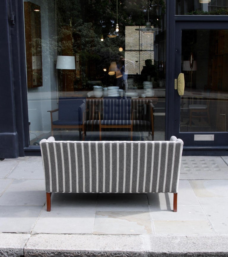 Ole Wanscher Three-Seat Settee Made by A.J. Iversen In Excellent Condition For Sale In London, GB
