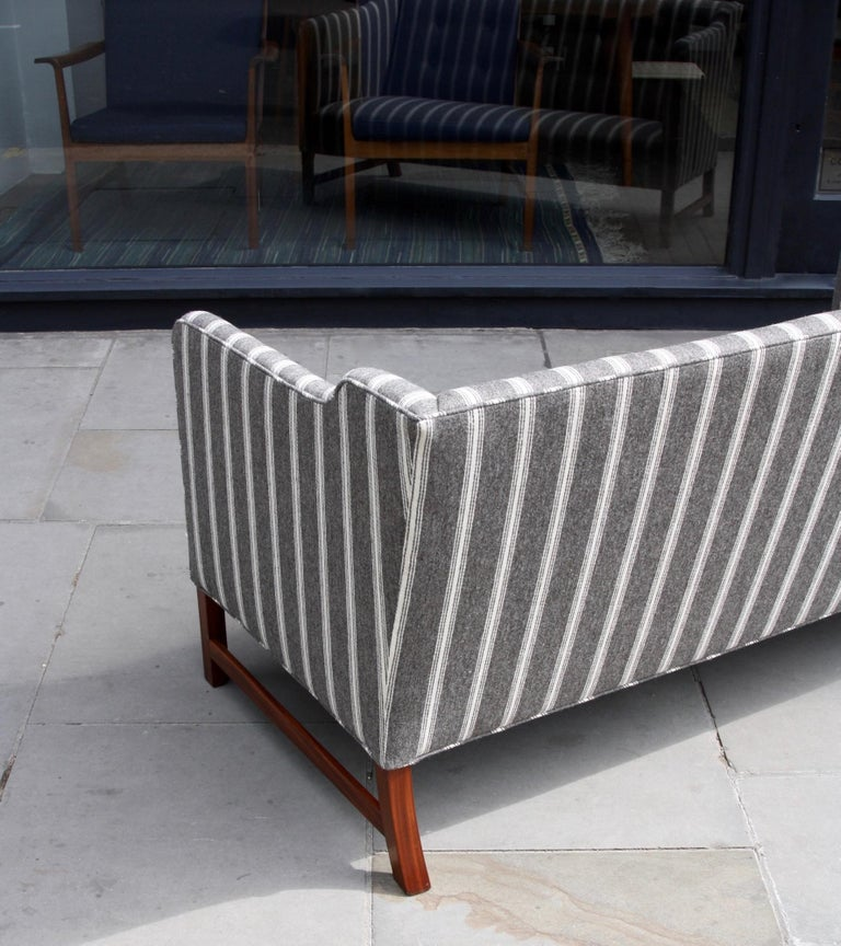 Mid-20th Century Ole Wanscher Three-Seat Settee Made by A.J. Iversen For Sale