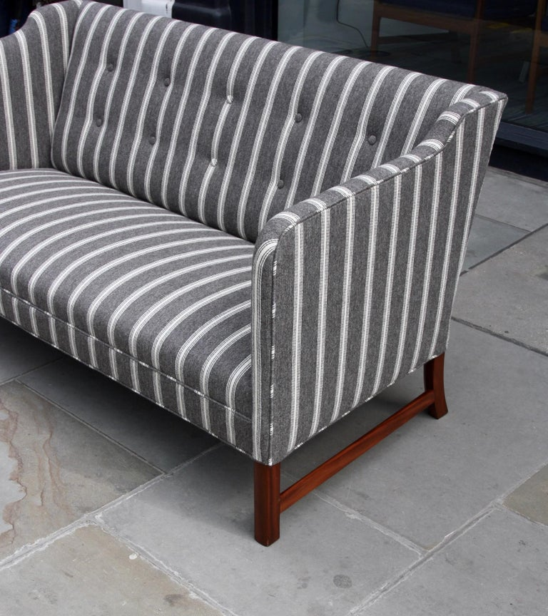 Ole Wanscher Three-Seat Settee Made by A.J. Iversen For Sale 1