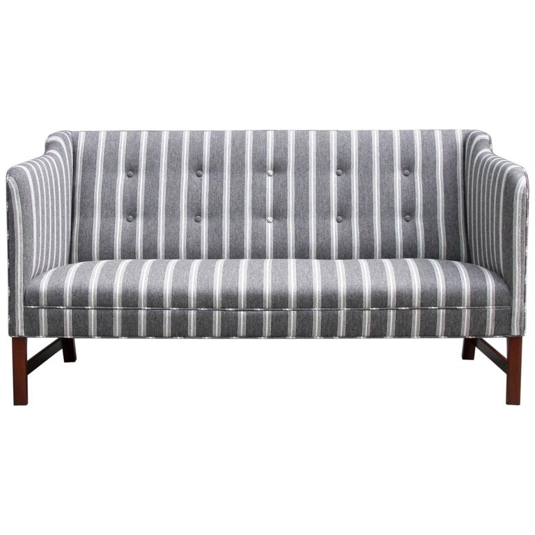 Ole Wanscher Three-Seat Settee Made by A.J. Iversen For Sale
