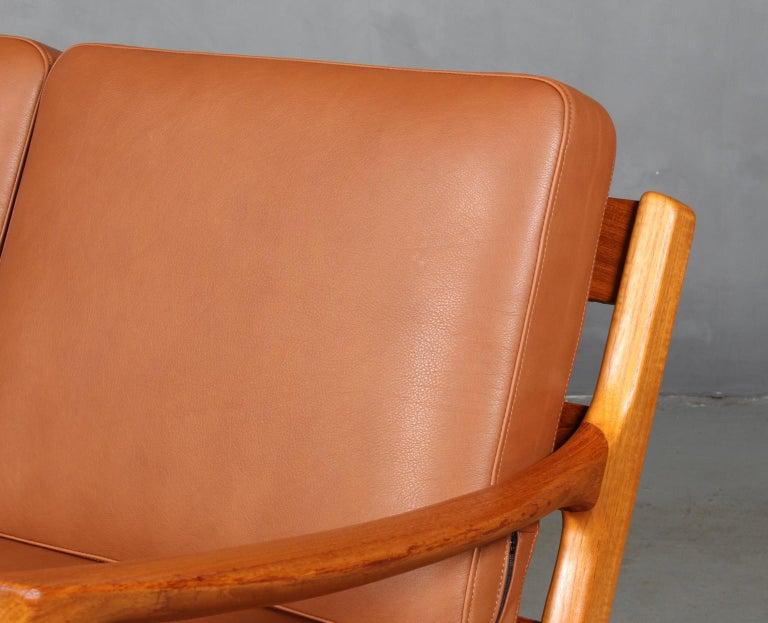 Scandinavian Modern Ole Wanscher Three-Seat Sofa For Sale