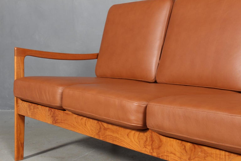Ole Wanscher Three-Seat Sofa In Good Condition For Sale In Esbjerg, DK