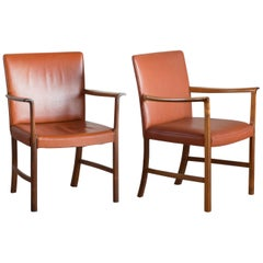 Ole Wanscher Two Rosewood Armchairs for a. J. Iversen