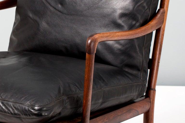 Scandinavian Modern Ole Wanscher Vintage Rosewood Colonial Chair, 1950s For Sale