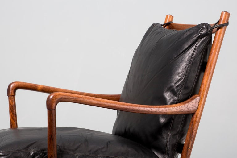 Ole Wanscher Vintage Rosewood Colonial Chair, 1950s In Excellent Condition For Sale In London, GB