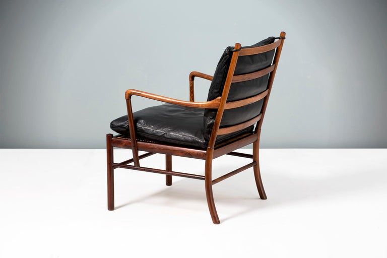 Mid-20th Century Ole Wanscher Vintage Rosewood Colonial Chair, 1950s For Sale