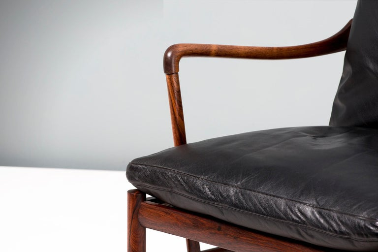 Ole Wanscher Vintage Rosewood Colonial Chair, 1950s For Sale 1
