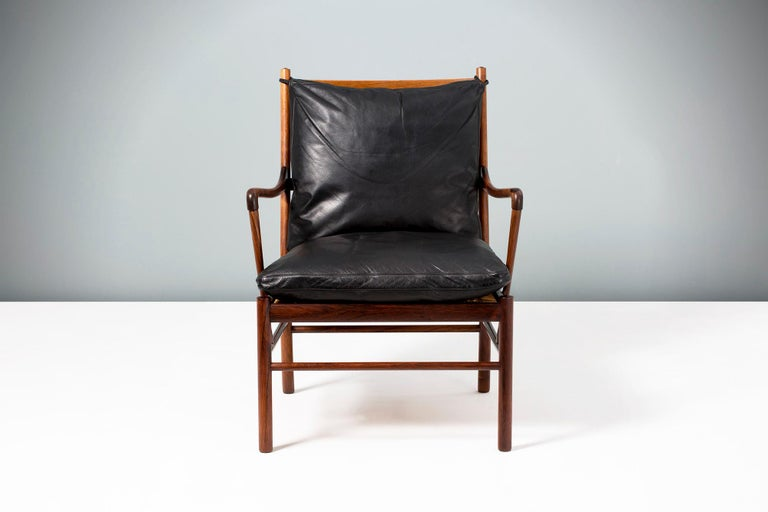 Ole Wanscher Vintage Rosewood Colonial Chair, 1950s For Sale 2