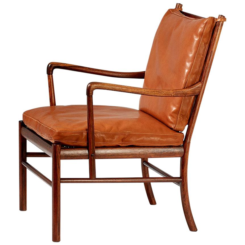 Ole Wanscher Vintage Rosewood Colonial Chair, 1950s