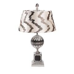 Olea Gray Stone Table Lamp