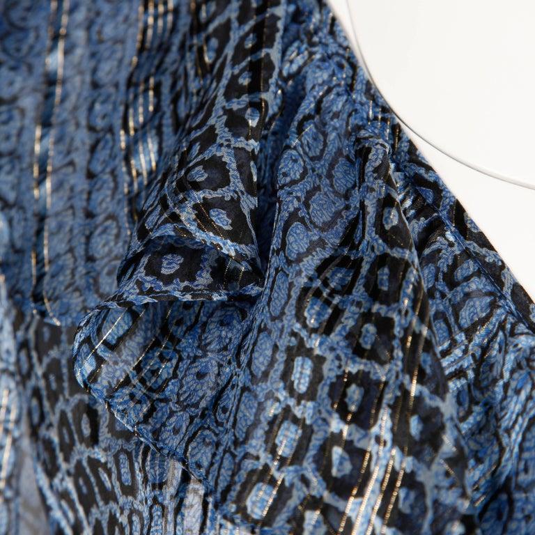 Women's Oleg Cassini Vintage Silk Blouse, 1970s  For Sale