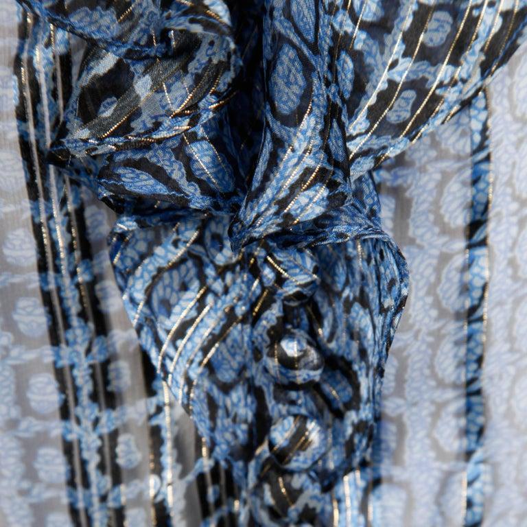 Oleg Cassini Vintage Silk Blouse, 1970s  For Sale 1