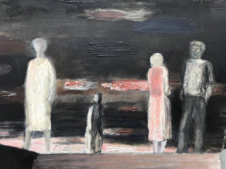 """Rendezvous"" - Black Figurative Painting by Oleg Vukolov"