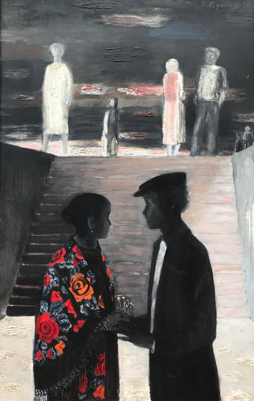 "Oleg Vukolov Figurative Painting - ""Rendezvous"""