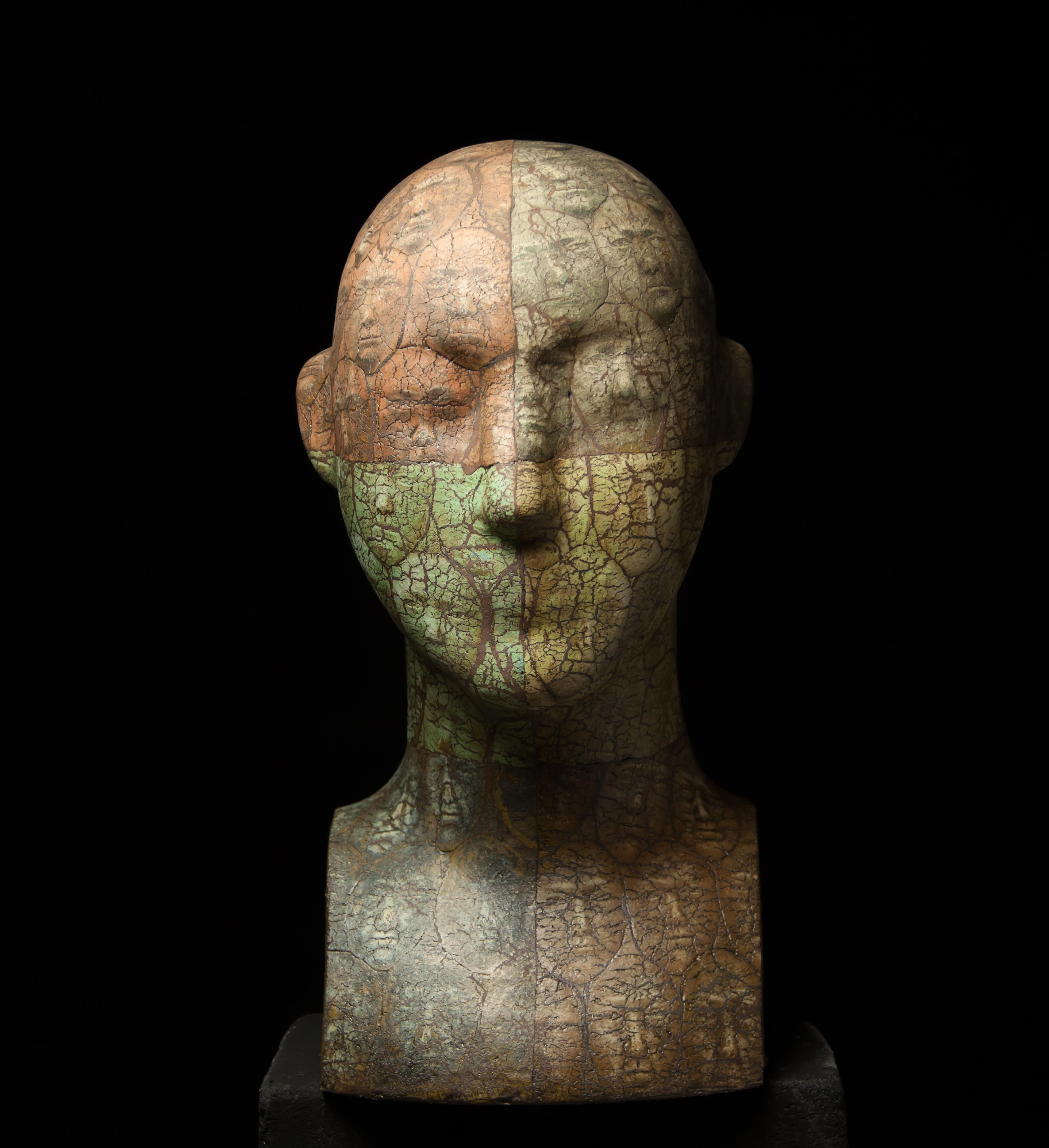 """Crowd"" Ceramic Sculpture Ed. 1/1 24"" x 12"" x 12"" in by Oleksandr Miroshnychenko"