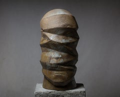 """Delusion Nr.3"" Clay Sculpture Ed. 1/1 24x10x12 in by Oleksandr Miroshnychenko"