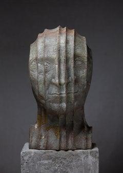 """Delusion Nr.5"" Clay Sculpture Ed. 1/1 25x13x11 in by Oleksandr Miroshnychenko"