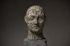 """Head Nr.31"" Clay Sculpture Ed. 1/1 17 x 10 x 9 in by Oleksandr Miroshnychenko"