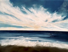 Blue Skies above, Painting, Oil on Canvas