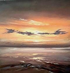 Lavender Skies, Painting, Oil on Canvas