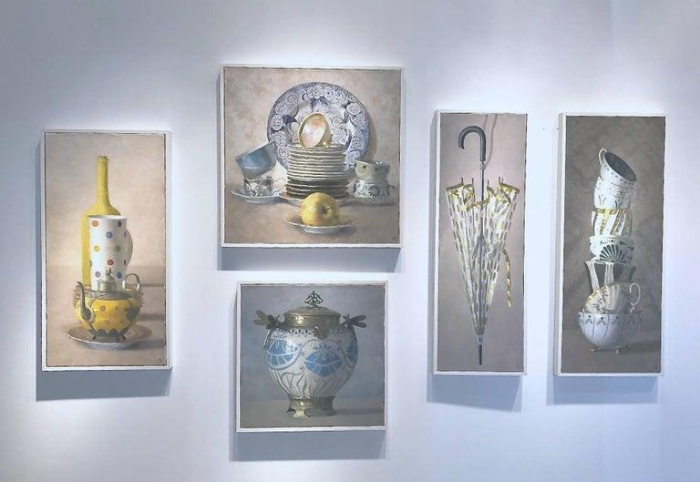 Yellow Composition - Painting by Olga Antonova