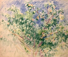 """Apple tree""  pastel  cm. 45 x 35   ( frame  cm. 60 x 70)"