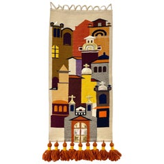 "Olga Fisch ""Casitas"" Tapestry"