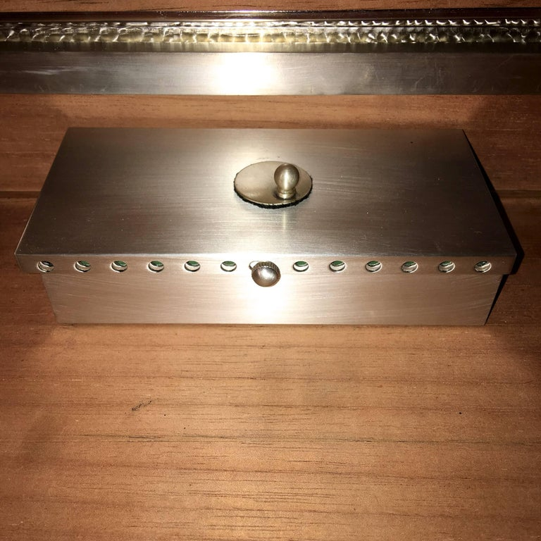 Oligarch Size Sterling Silver Humidor For Sale 2