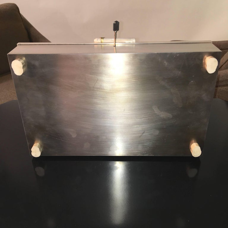 Oligarch Size Sterling Silver Humidor For Sale 6