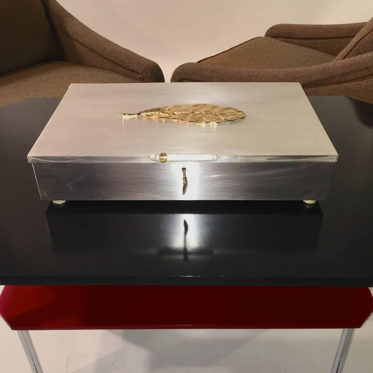 Oligarch Size Sterling Silver Humidor For Sale 7