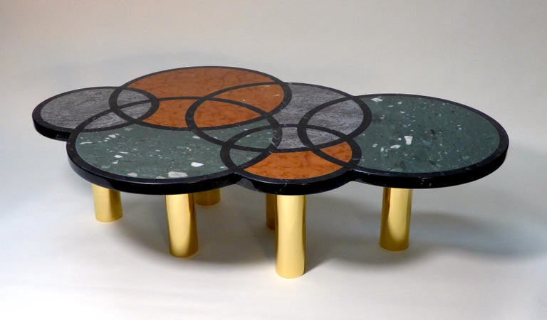 Contemporary Coffee Table Olimpia Model by Studio Superego, Italy For Sale