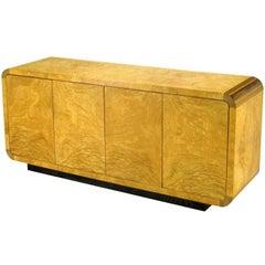 Olive Burl and Macassar Ebony Cabinet