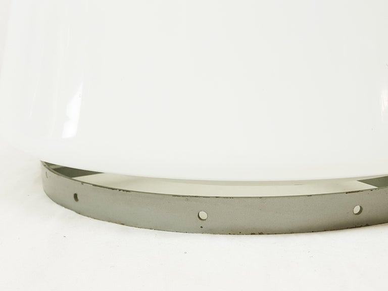 Olive Green and White Murano Glass Floor Lamp by Gino Vistosi for Vistosi, 1960s For Sale 1