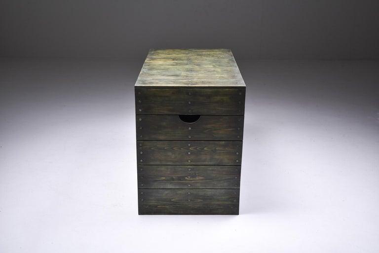 20th Century Olive Green Table Desk by Dom Hans van der Laan & Jan de Jong For Sale