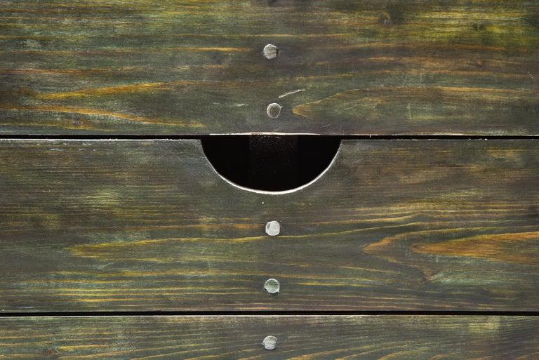 Olive Green Table Desk by Dom Hans van der Laan & Jan de Jong For Sale 2
