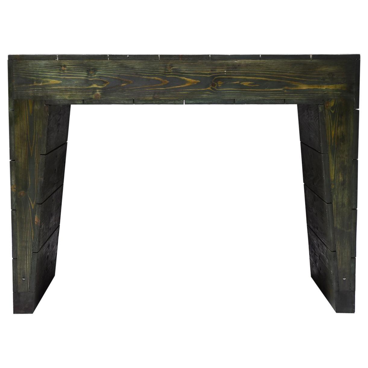 Olive Green Table Desk by Dom Hans van der Laan & Jan de Jong