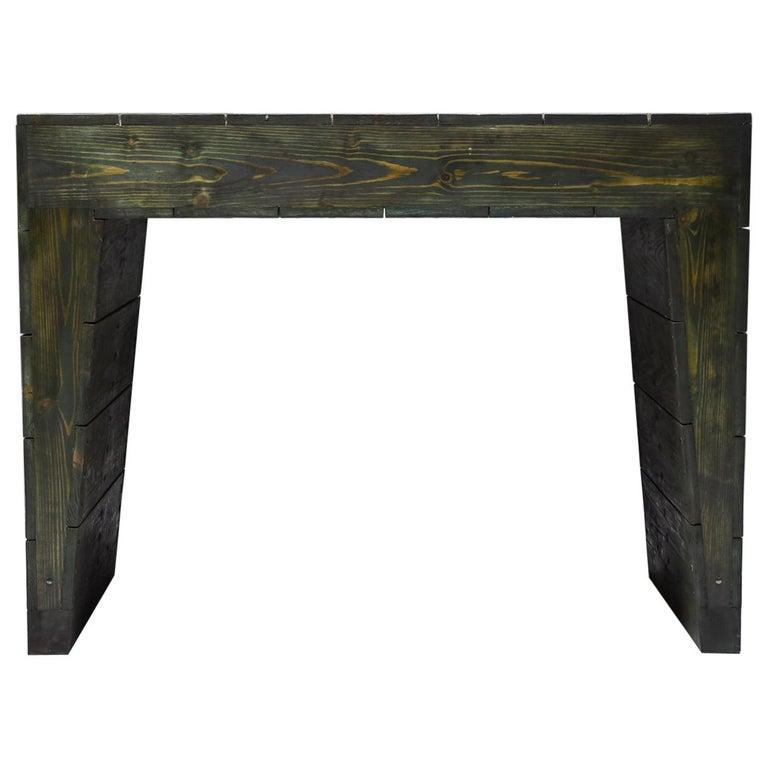 Olive Green Table Desk by Dom Hans van der Laan & Jan de Jong For Sale