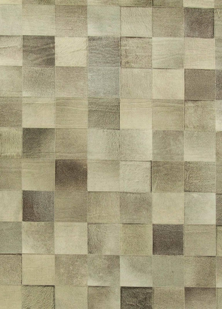 Olive oversized hair-on-hide contemporary rug Size: 17'5