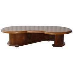 Olive Wood Coffee Table, France, 1960s
