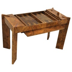 Olive Wood Games Table Backgammon