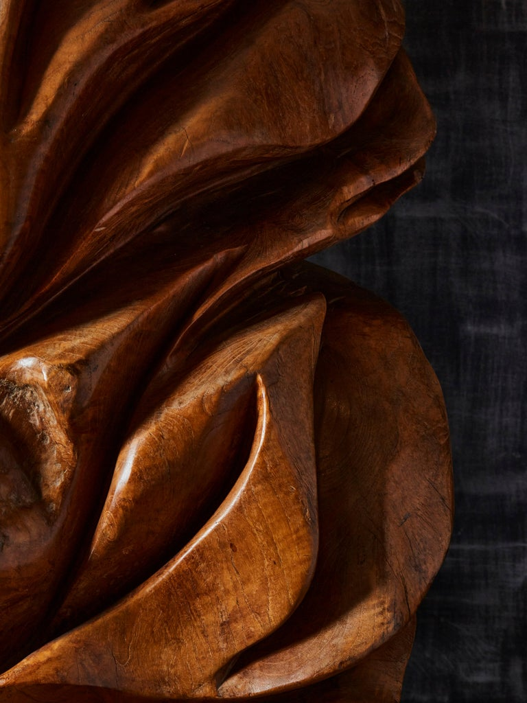 Late 20th Century Olive Wood Sculpture For Sale