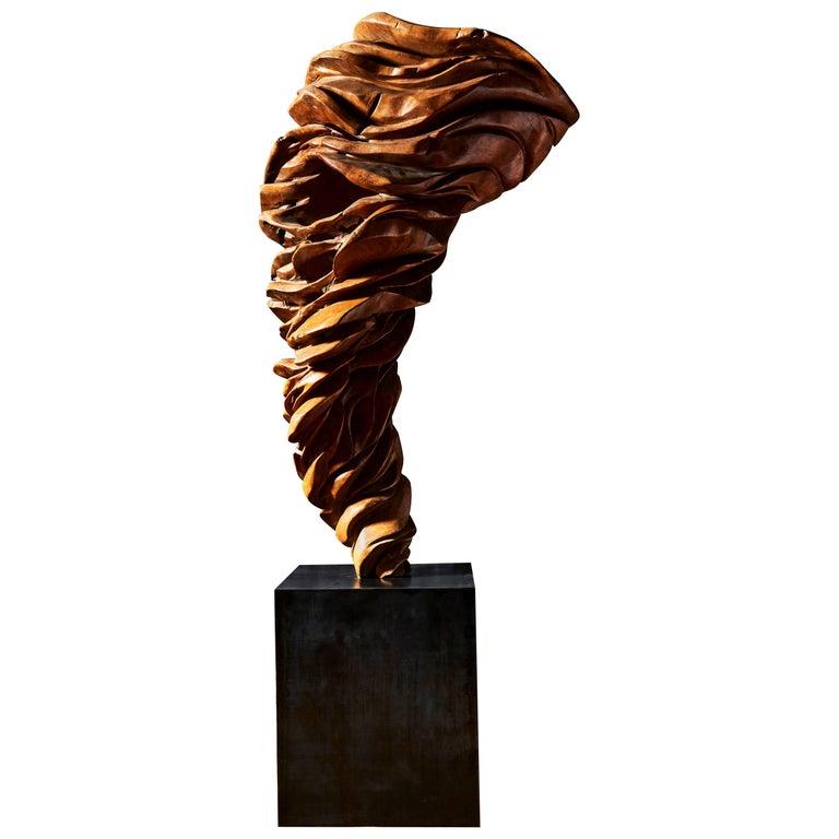 Olive Wood Sculpture For Sale