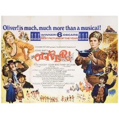 Oliver! 1968 British Quad Film Poster