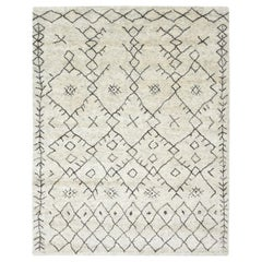 Oliver, Bohemian Shaggy Moroccan Inspired Hand Knotted Area Rug, Rhino
