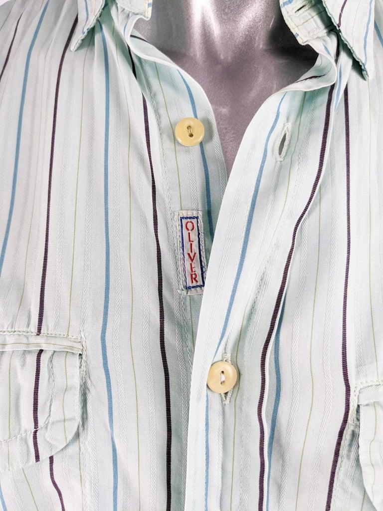 Oliver by Valentino Mens Vintage Pastel Mint Shirt 1