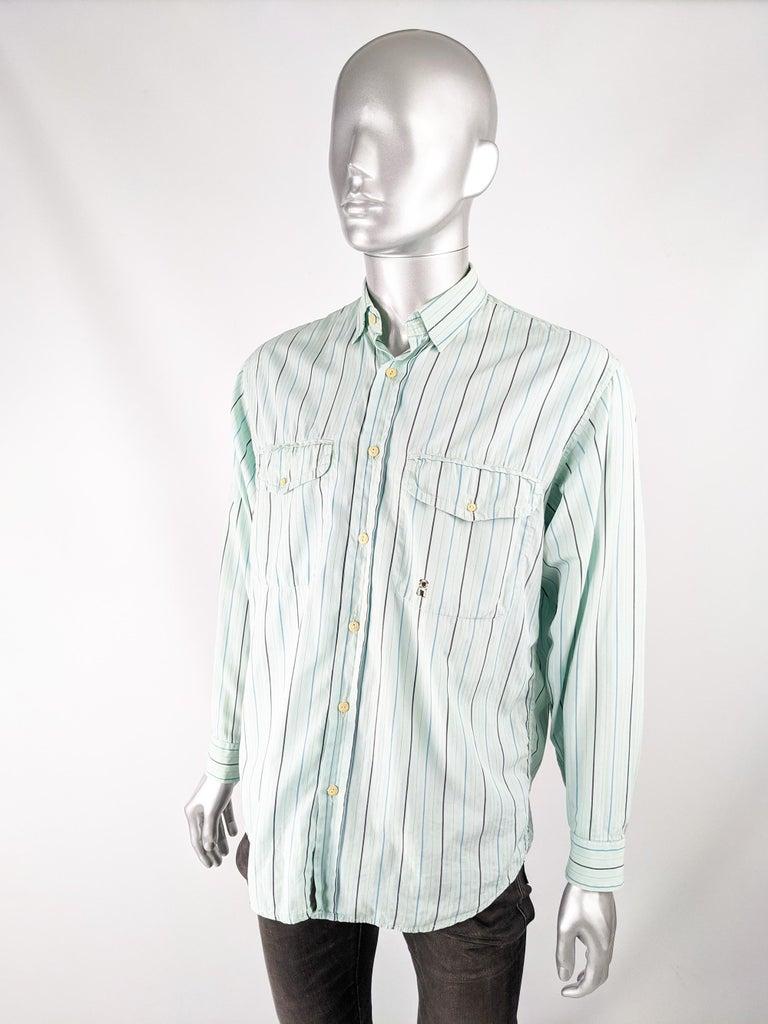 Oliver by Valentino Mens Vintage Pastel Mint Shirt 2