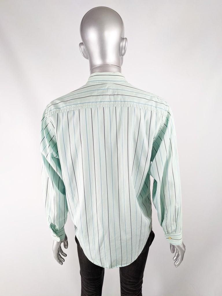 Oliver by Valentino Mens Vintage Pastel Mint Shirt 3