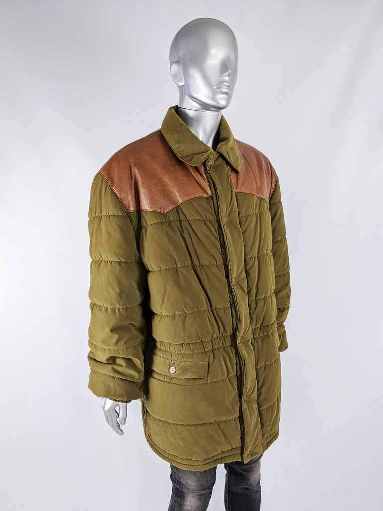 Oliver by Valentino Vintage Mens Long Puffer Coat 1